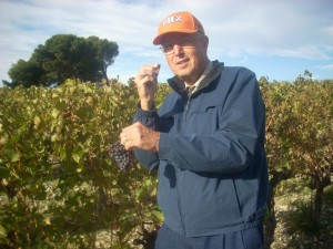 Jim Becker tasting grapes in Provence, France